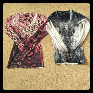 Lot of 2 Daytrip tops XS and S